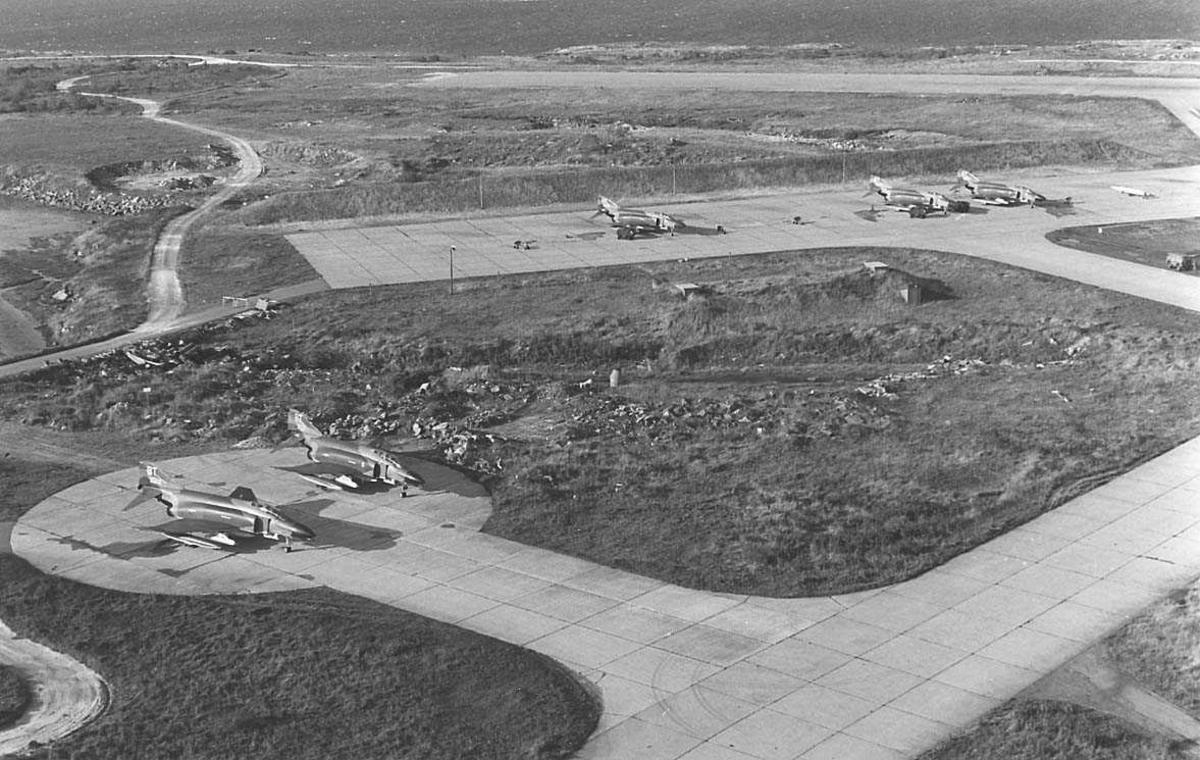 Luftfoto av en flystajon.
