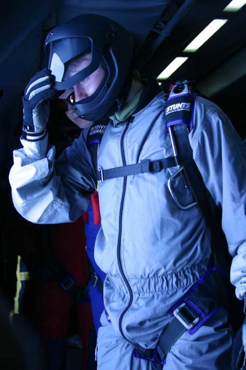 En person, fallskjermhopper