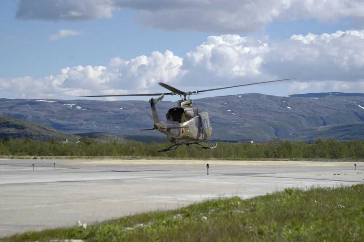 Ett helikopter, Bell 412SP 148 fra 339 skv.