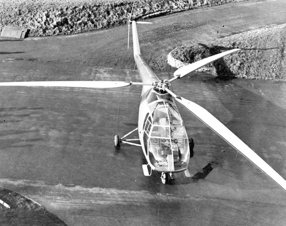 1 helikopter på bakken. Bristol 171 Mk1.