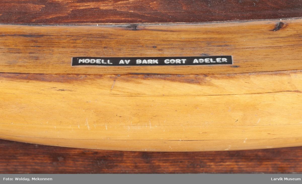 """Byggemodell skonnertskip """"Cort Adeler"""""""