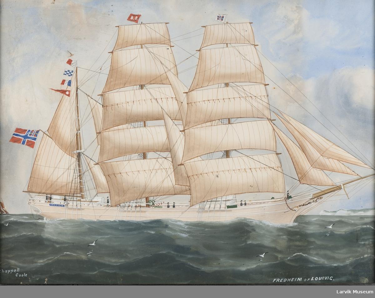 """Barken """"Fredheim"""" av Larvik"""