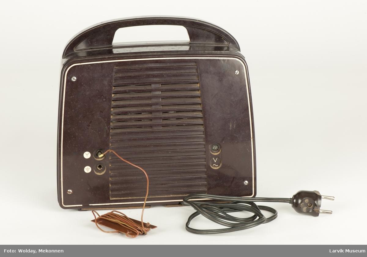 Radiomottaker, bordmodell m. håndtak