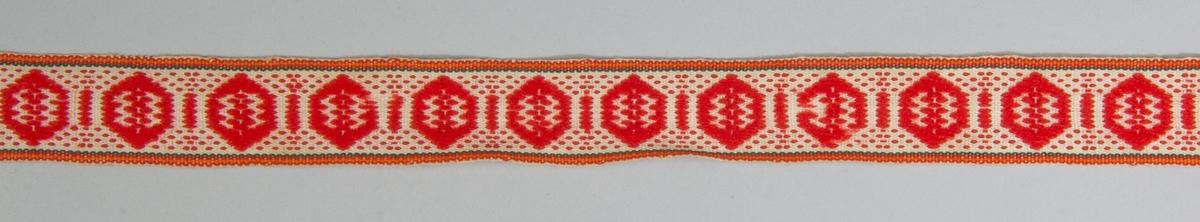 """Kjolsäck inspirerad av kjolsäckar från Rättviks socken, Dalarna. Modell med avskuret framstycke. Tillverkad med framstycke av vitt fårskinn med applikationer av ylletyg, kläde, i rött, mörkgrönt och blått, fastsydda på maskin. Centralt placerad hjärtblomma omgiven av tredelade cirklar. Broderi utfört med bomullsgarn i flera färger och kvalitéer: sticksöm. Ovanför applikationen en """"grind"""" flätad av smala remsor vitt fårskinn samt ullgarn i rött, grönt och lila. Kantat runtom med rött diagonalvävt ylleband, som också använts till """"grindens"""" långsidor. Framstyckets baksida försedd med ett övre belägg av brunt bomullstyg. Bakstycke av sämskskinn, med överstycke på framsidan av grönt ylletyg. Axelband handvävda, med plockat mönster av rött ullgarn på vit botten."""