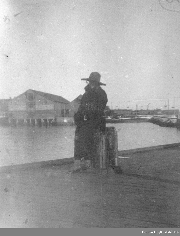 På dampskibskaien i Vadsø våren 1921