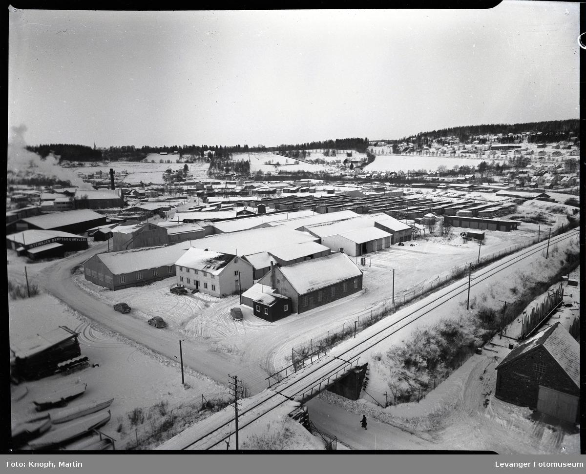 Kirknesvågen sagbruk. Sagbrukstomta på Steinkjer.