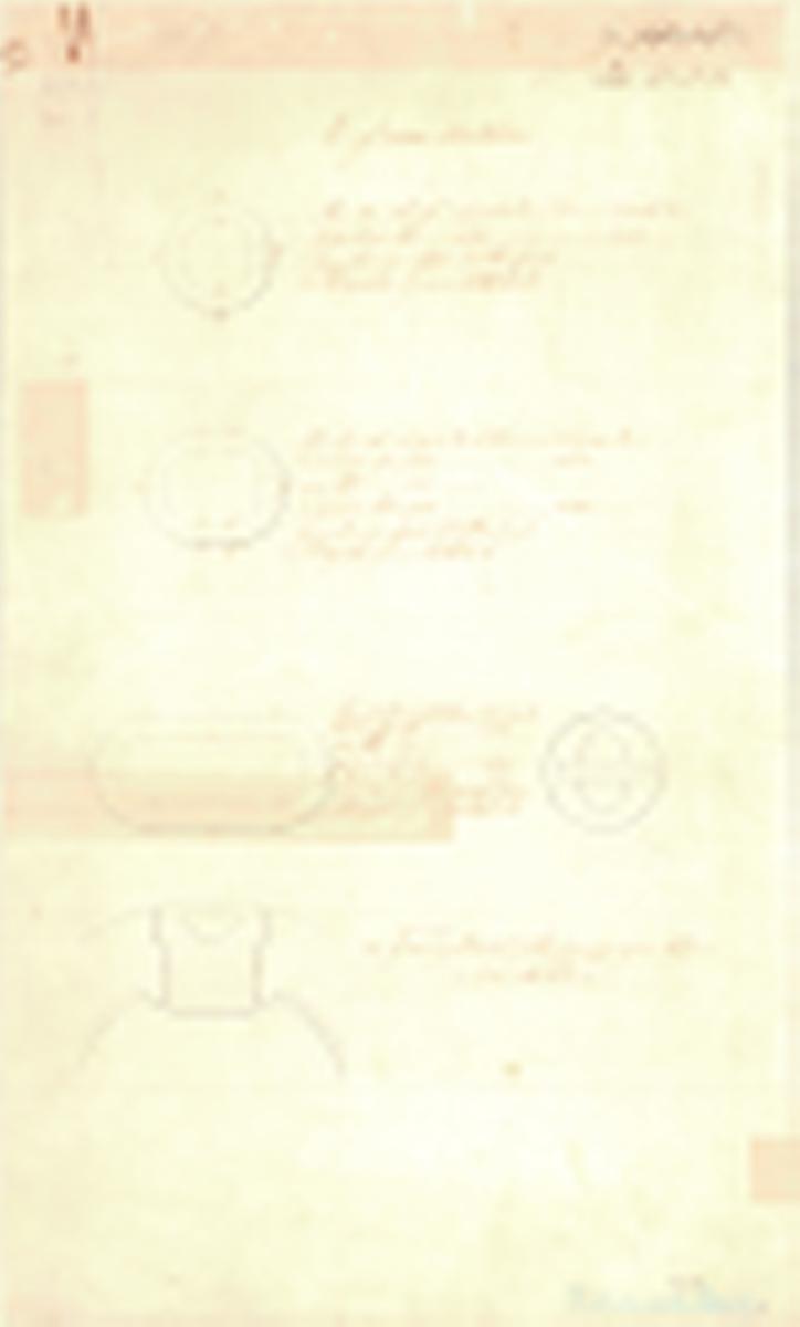 2 st ritningar till runda och avlånga granater