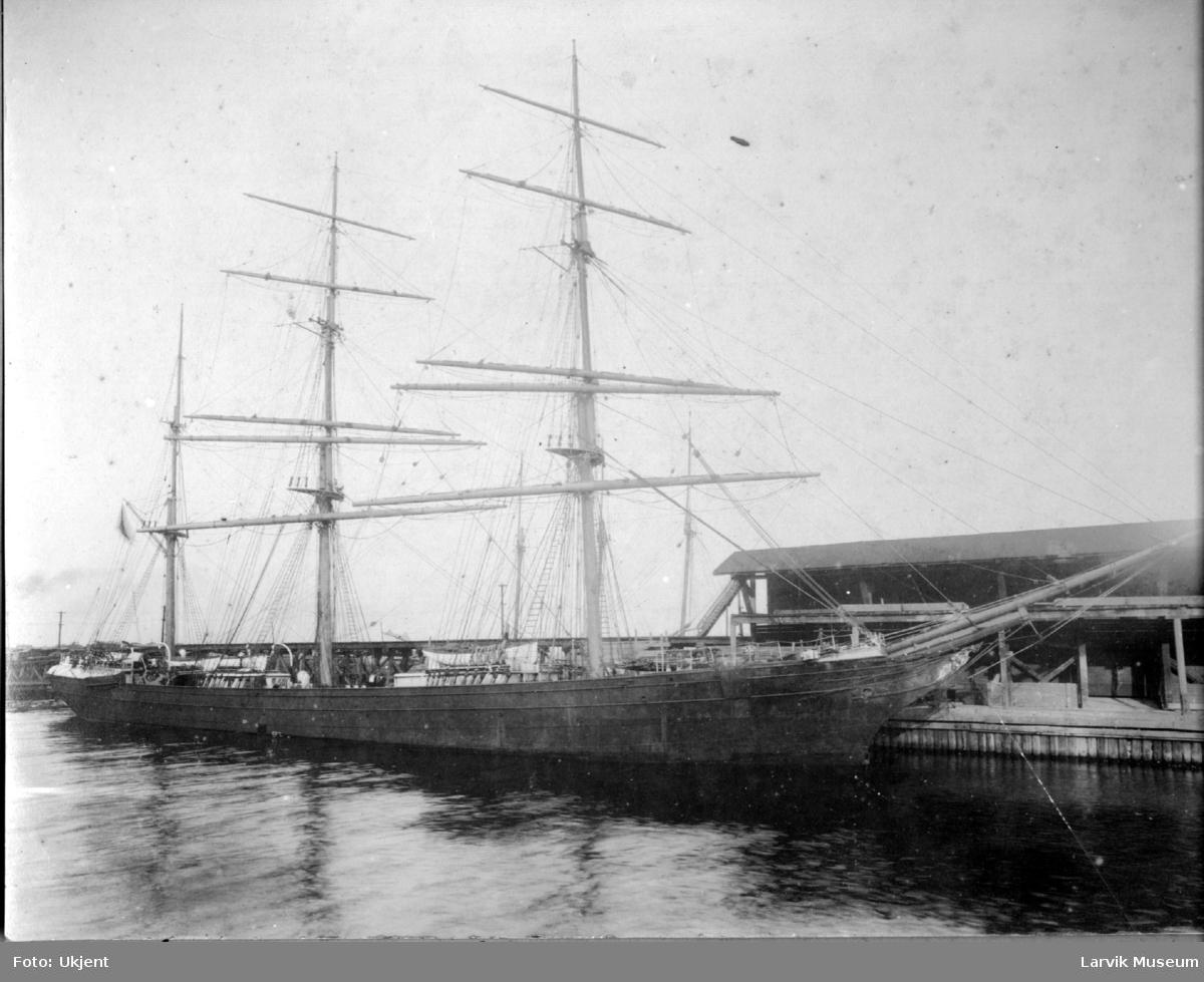 Fartøy, seilskip, barken Edderside av Larvik.