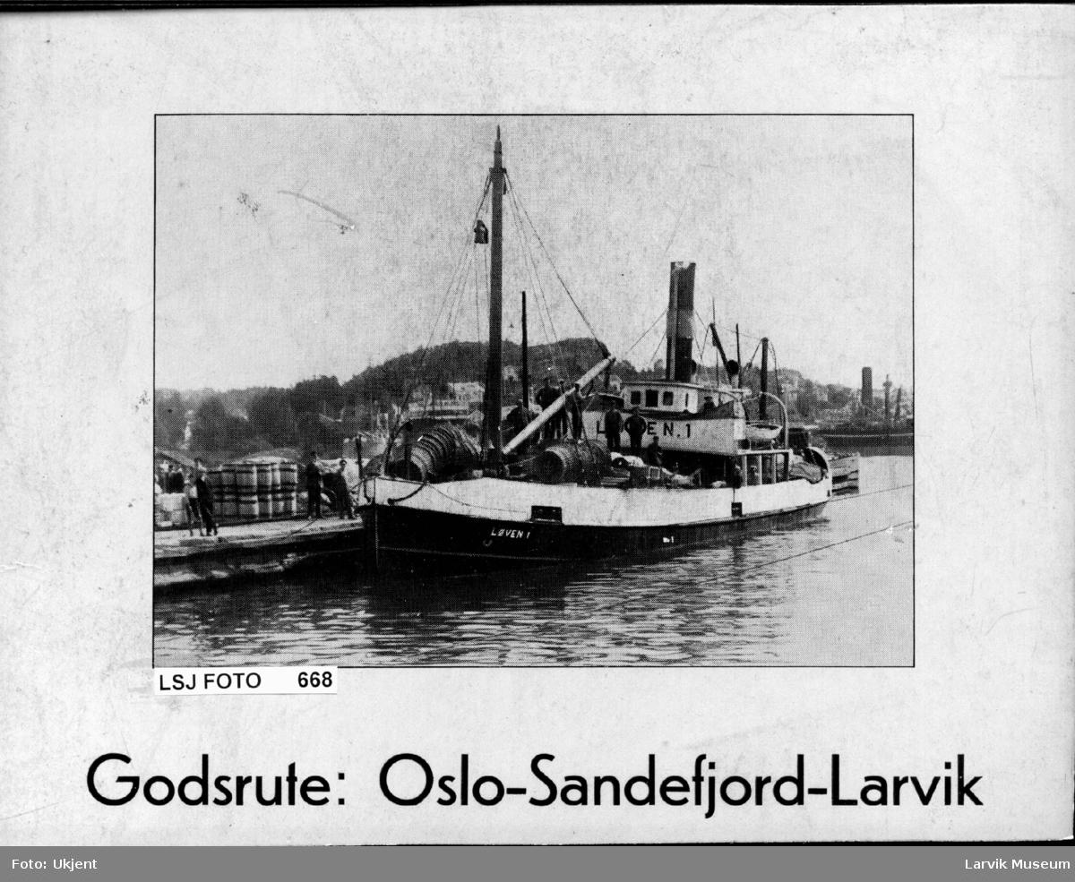 "fartøy, dampskip, d/s ""Løven 1"""