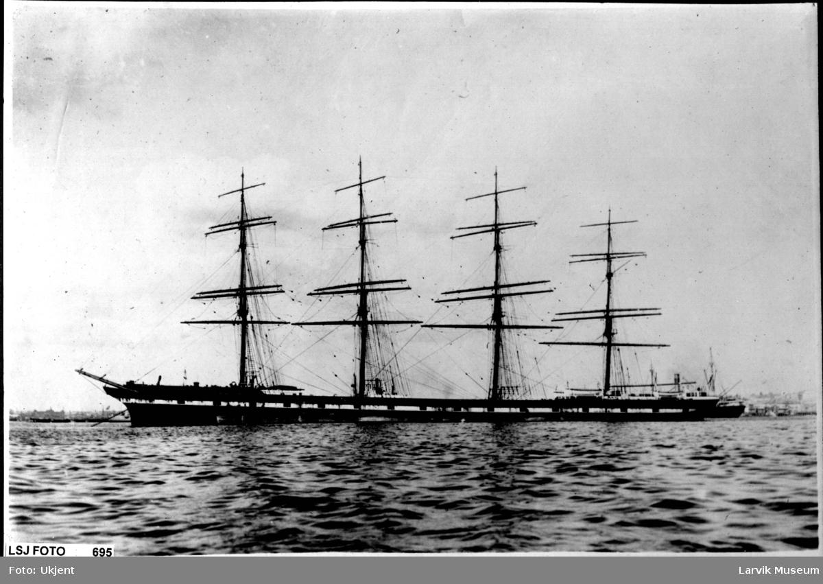 "fartøy, seilskip, fullrigger ""Lancing"""