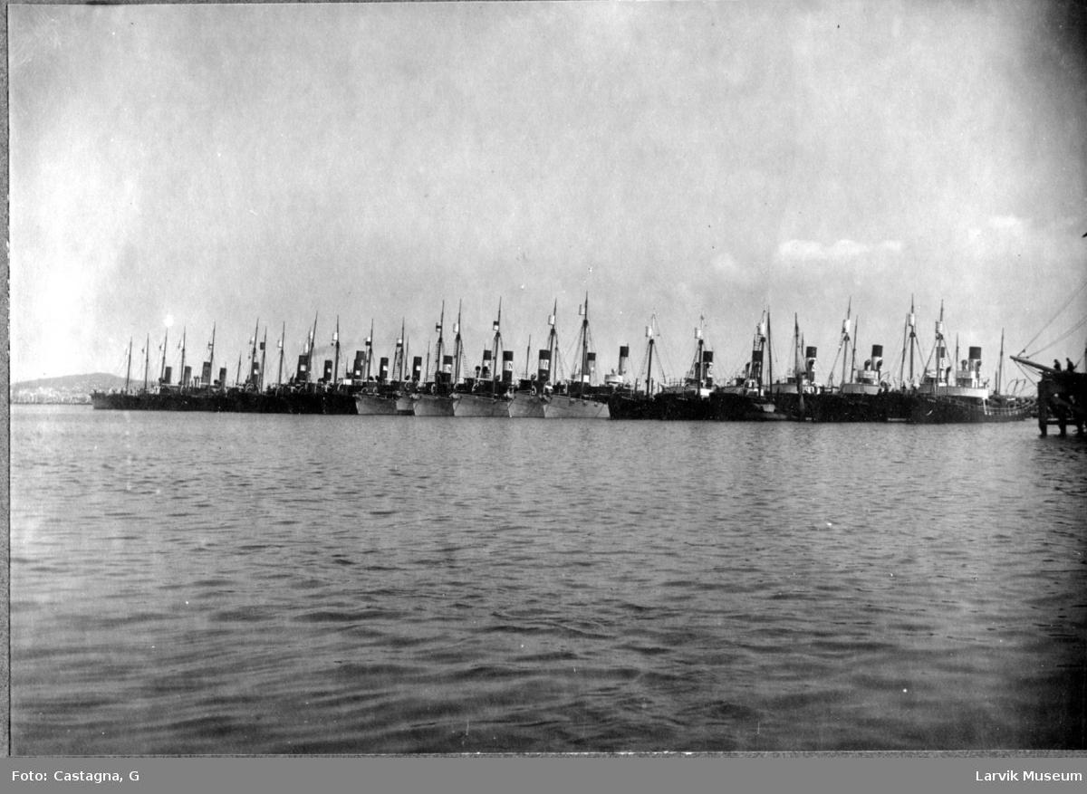 Hvalbåter i opplag i Montevideo