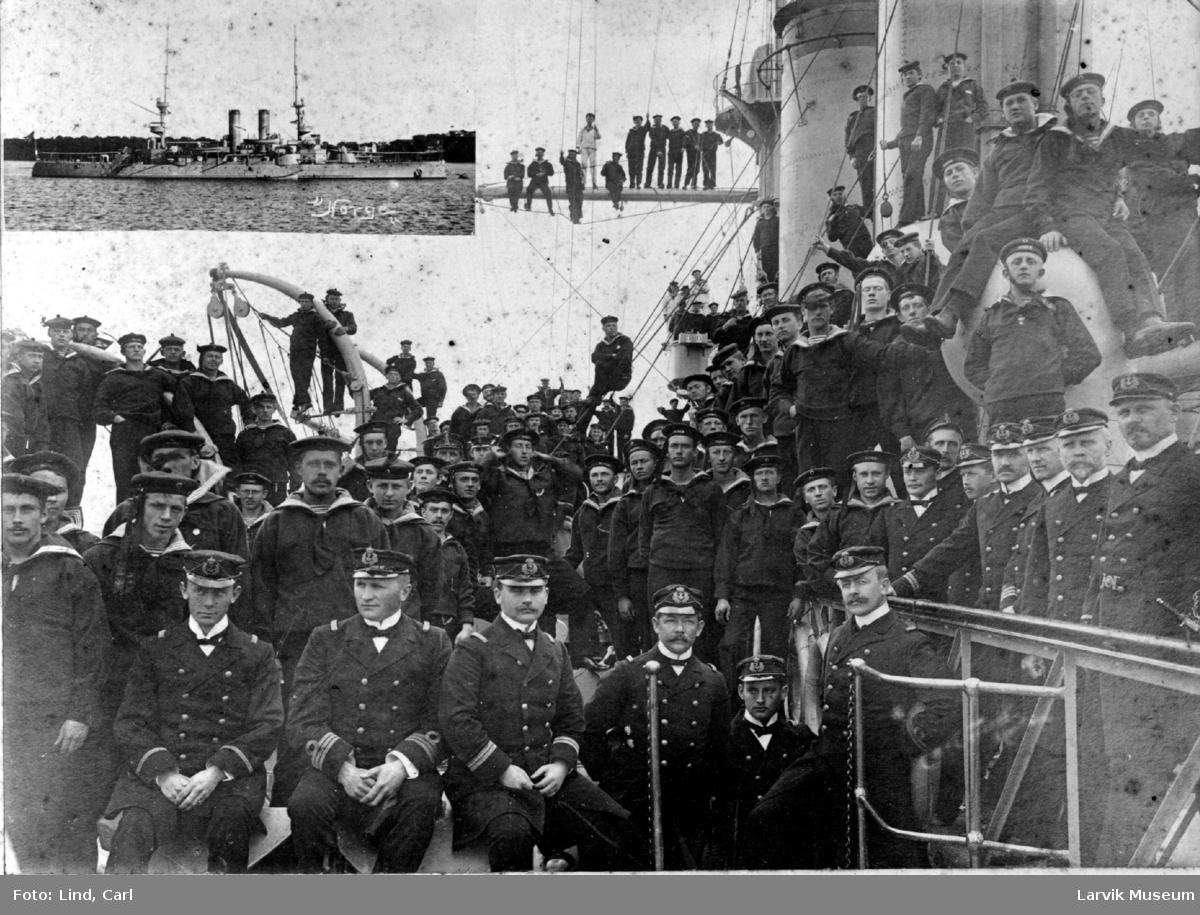Mannskap på panserskipet Norge