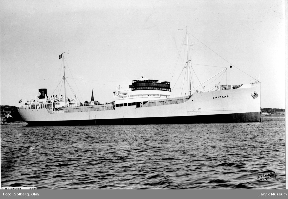 Fartøy, motortanker, M/T Snipaas av Larvik.