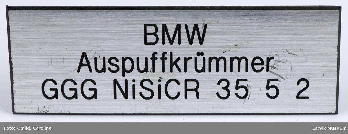 BMW Auspuffkrümmer. GGG NiSiCR 35 5 2