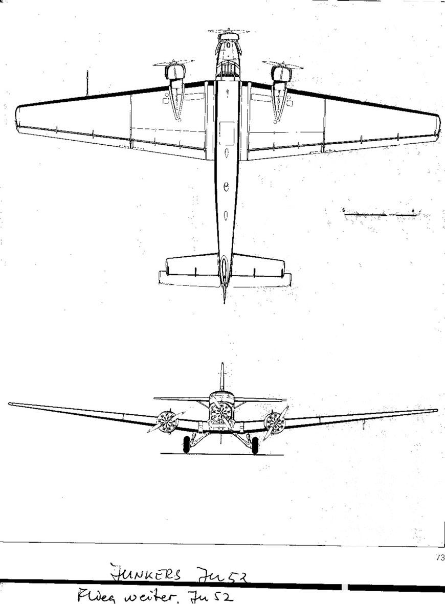 Treplanskisse, Junkers JU-52