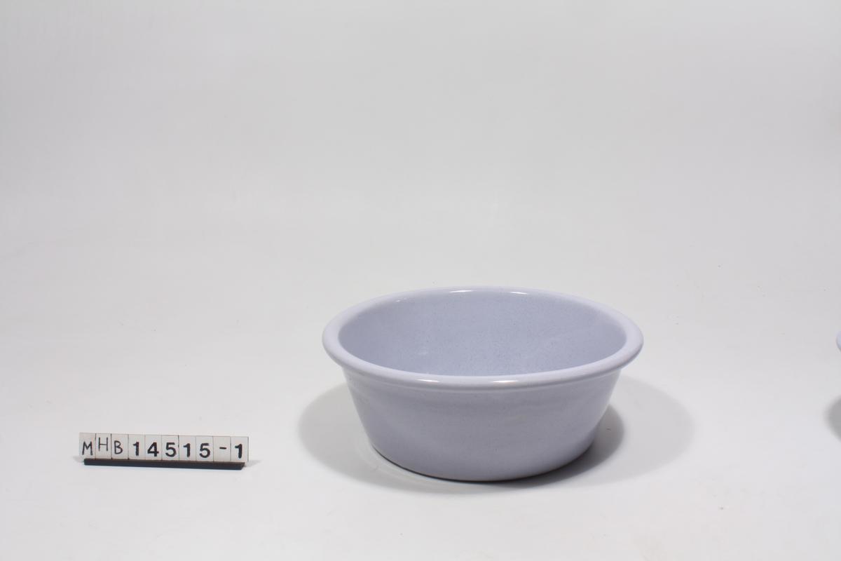 En glasert skål.