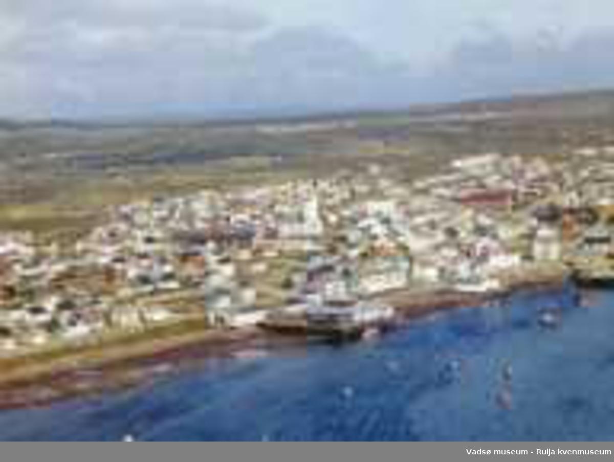 Flyfoto av Vadsø, 1963.