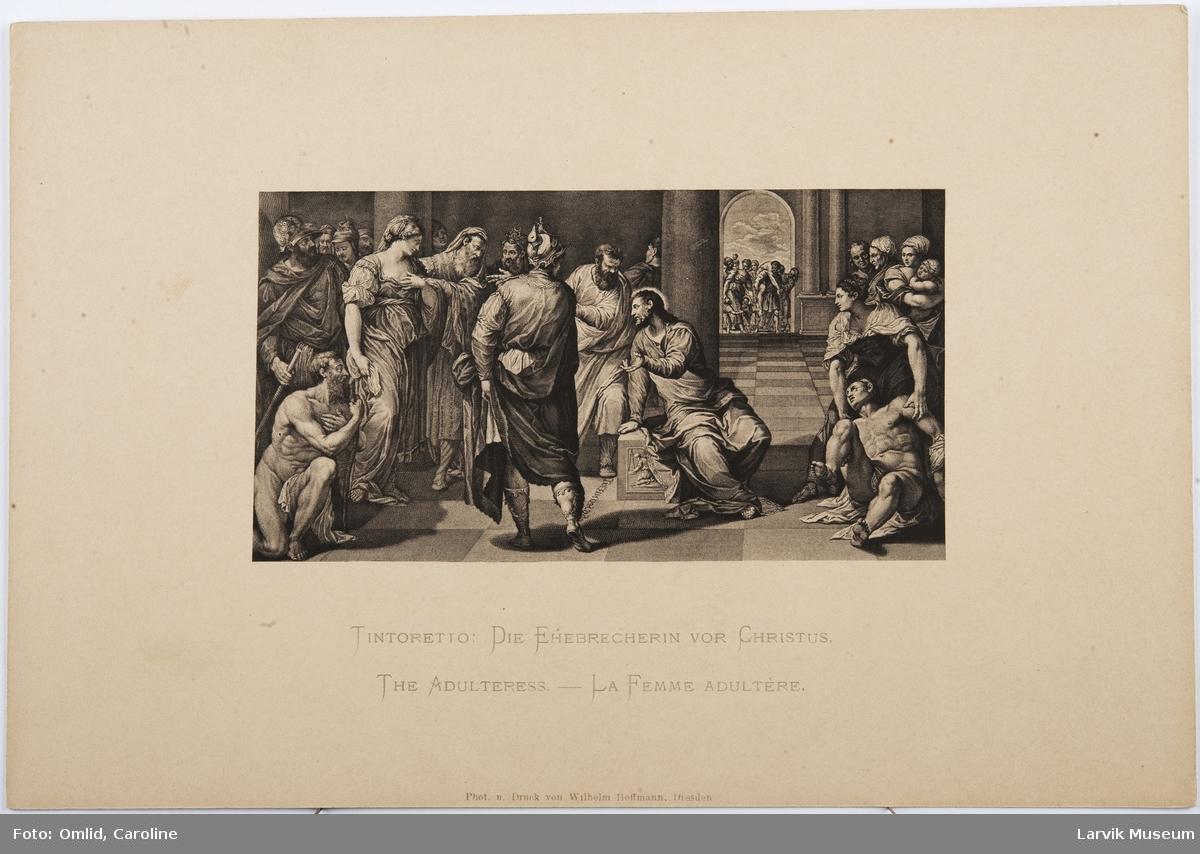 Tintoretto: Die Ehebrecherin vor Christus.