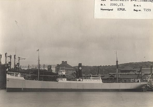 Fartyg: GRETA                          Bredd över allt 12,12 meter Längd över allt 87,50 meter Reg. Nr.: 7159 Rederi: Rederi AB Svecia Byggår: 1906 Varv: Eiderwerft AG, Tönning (DE) Övrigt: Namnsignal: KFQM; D.w.t.: 3150; Br.t.: 2080,23; ex FRIDA FAHRENHEIM -24; ex REGNATOR -14; ex RENDSBURG -11