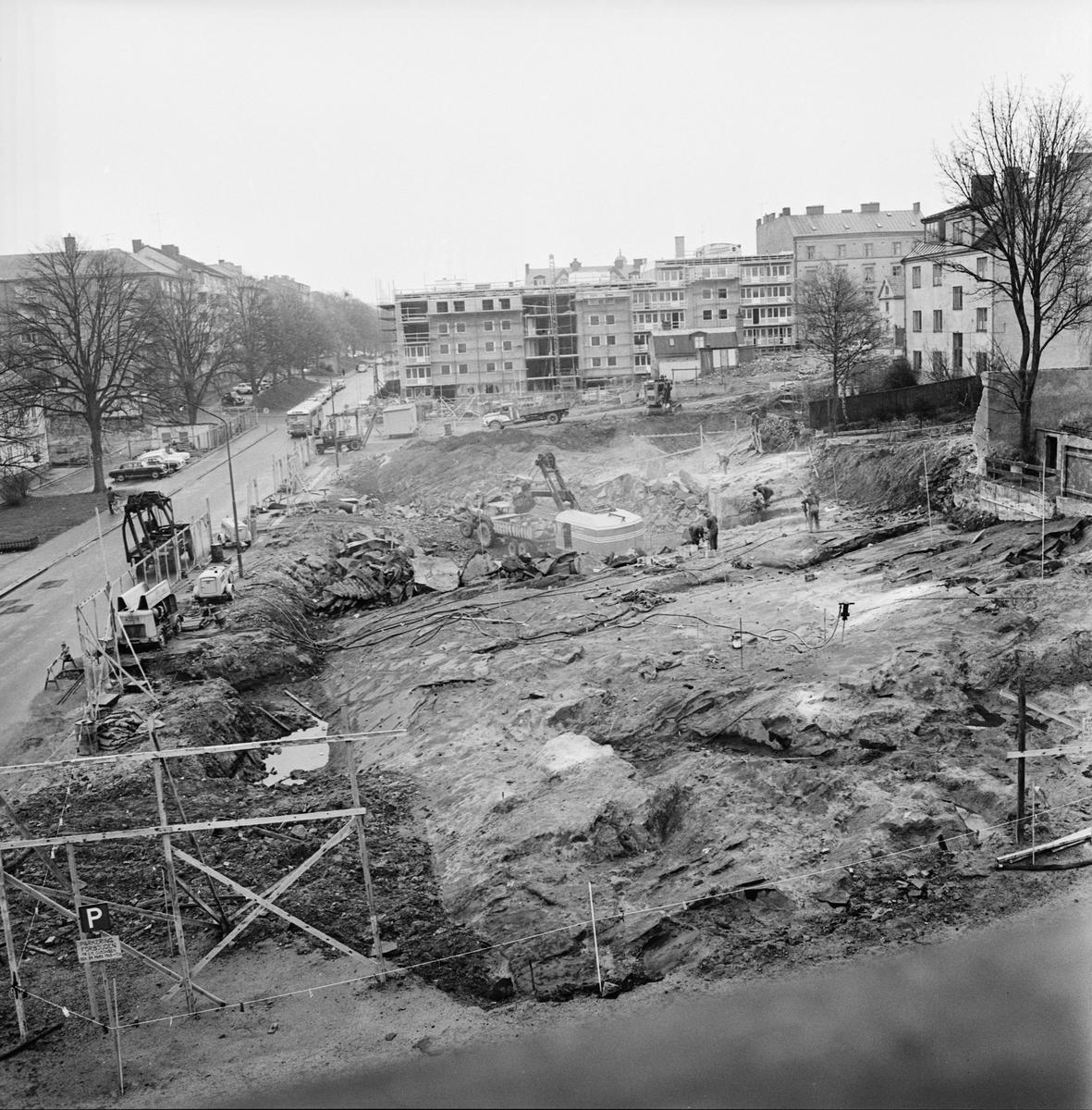 Övrigt: Foto datum: 14/5 1965 Byggnader och kranar Kvarteret Pollux
