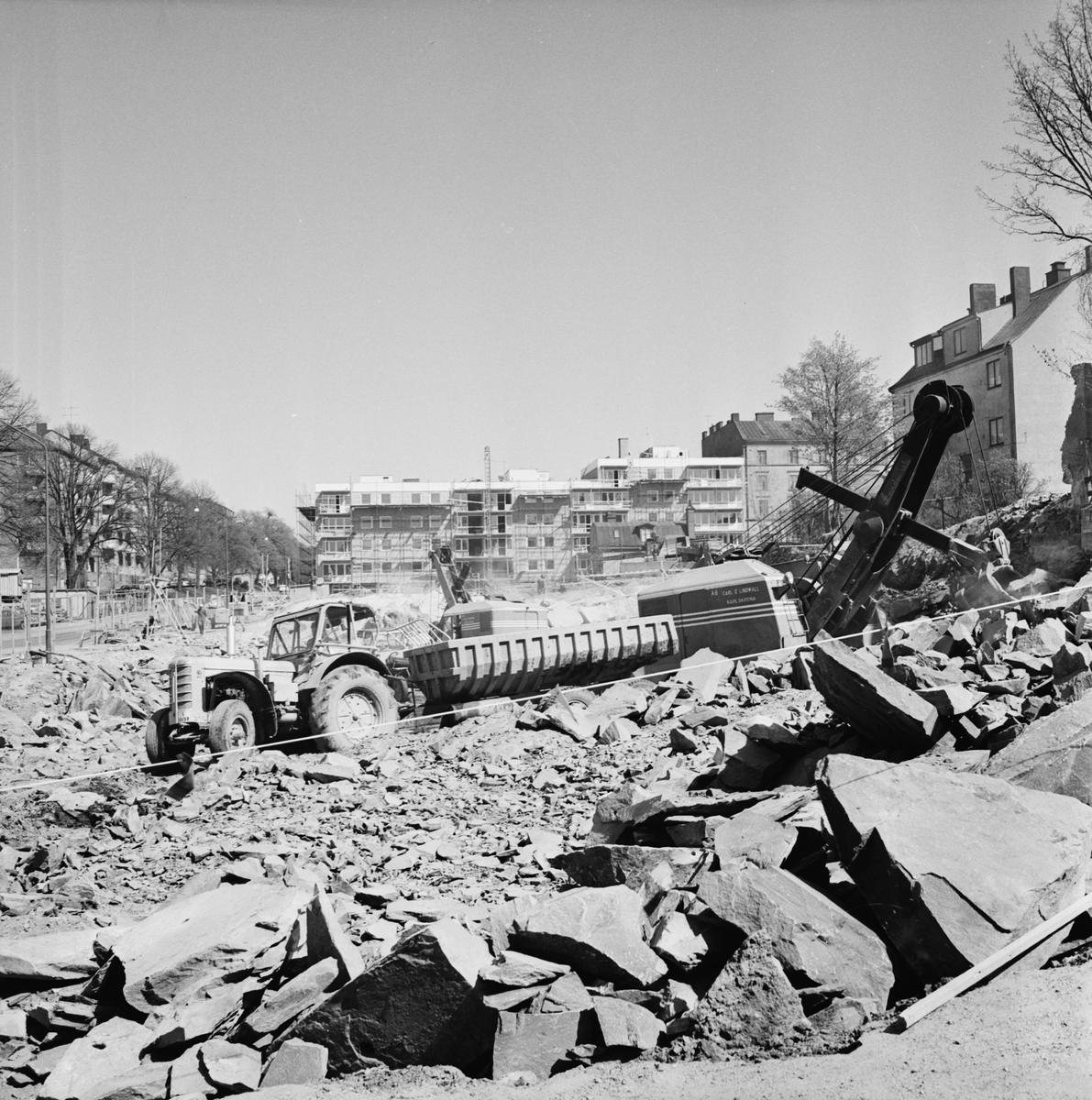 Övrigt: Foto datum: 25/5 1965 Byggnader och kranar Kvarteret pollux