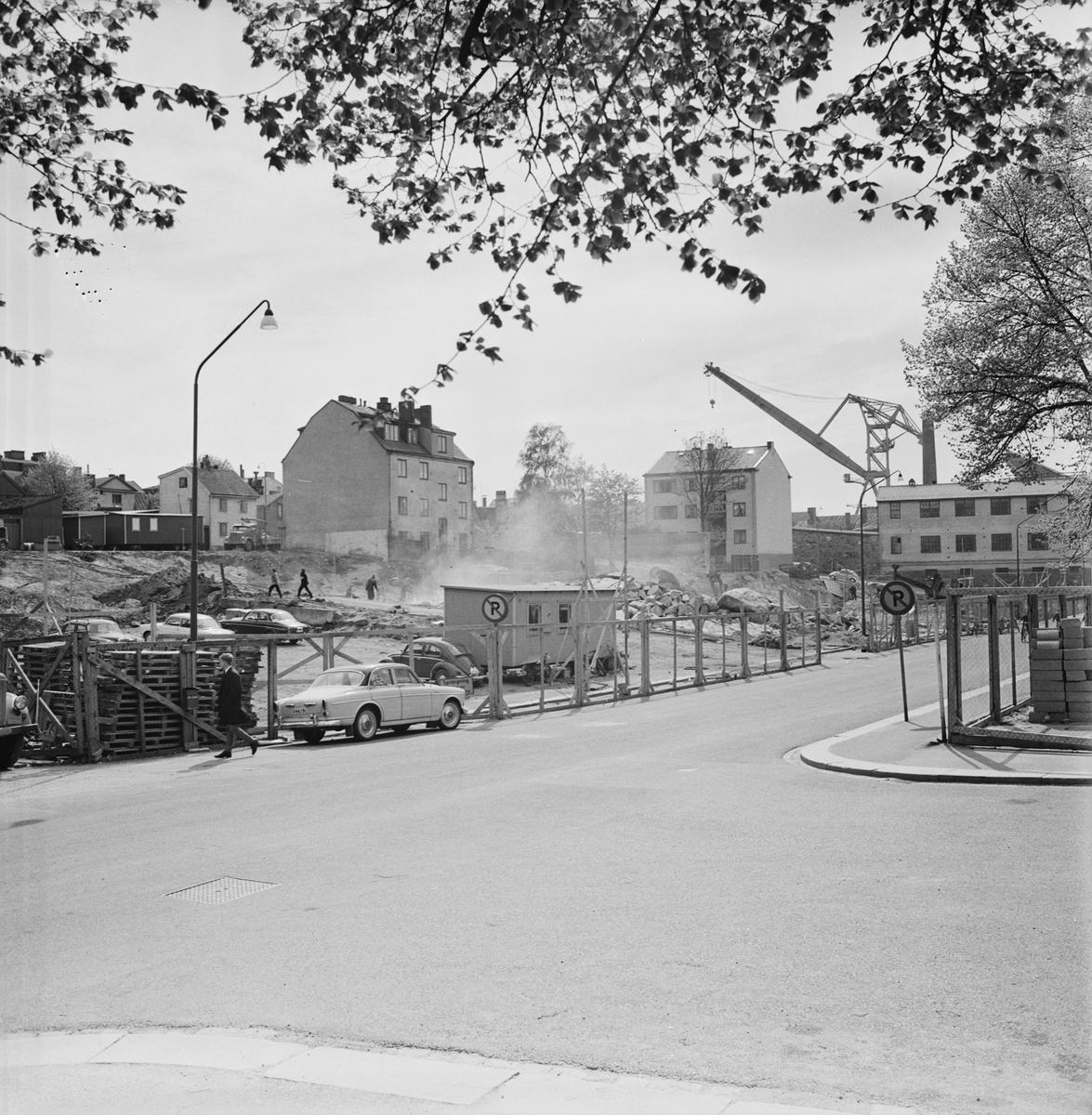 Övrigt: Foto datum: 1/6 1965 Byggnader och kranar Kvarteret pollux