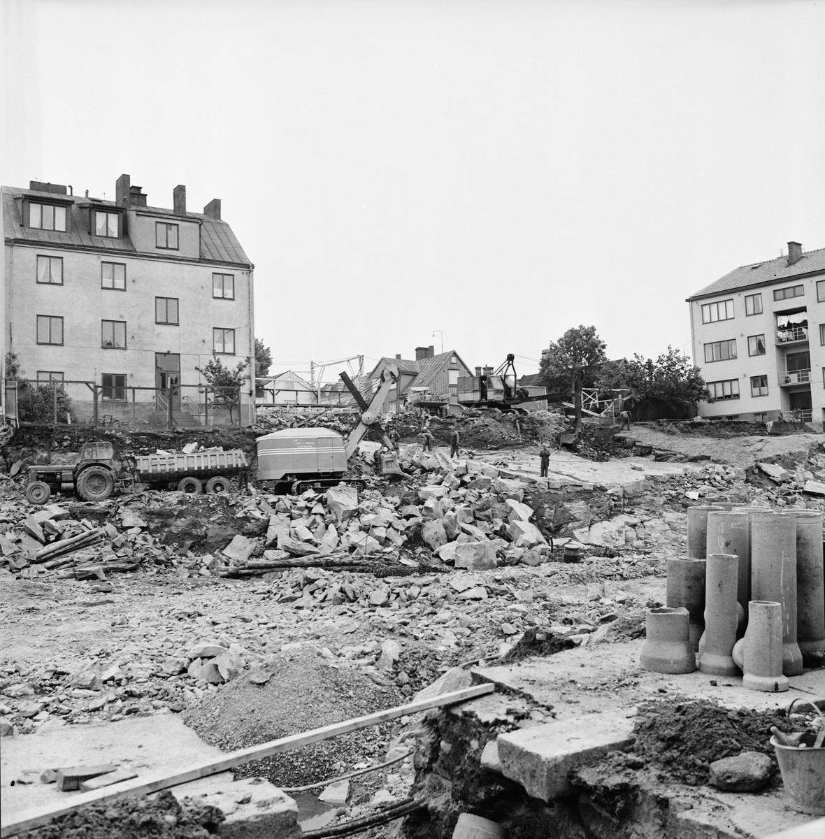 Övrigt: Foto datum: 13/6 1965 Byggnader och kranar Kvarteret pollux