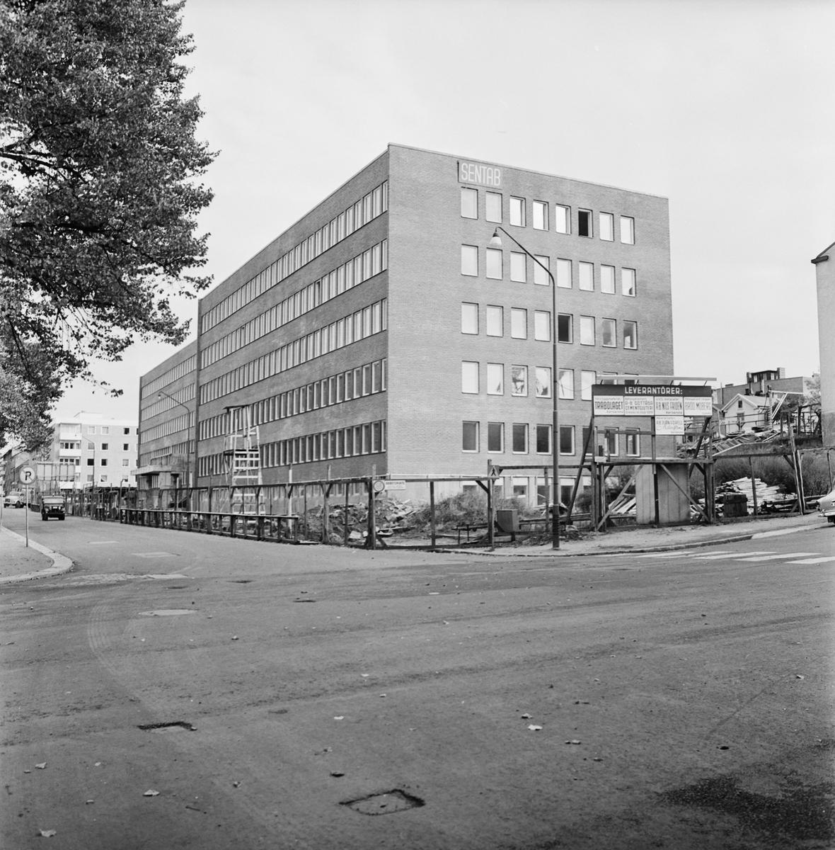 Övrigt: Fotodatum 5/10 1966 Byggnader och Kranar Kvarteret Pollux