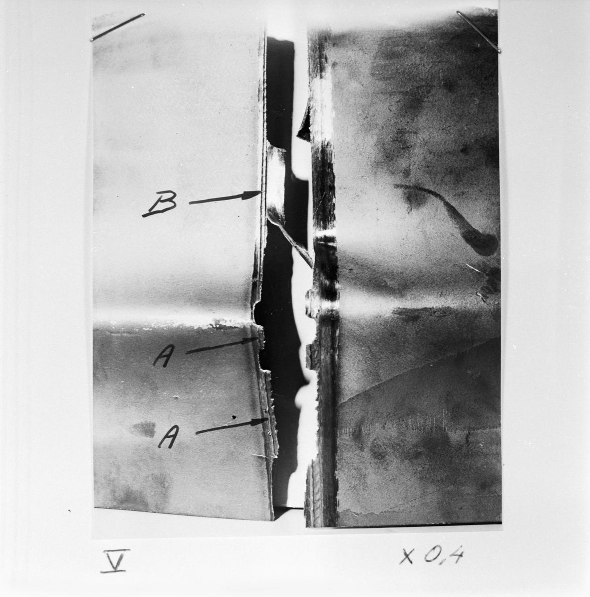 Övrigt: Foto datum: 20/1 1956 Byggnader och kranar Microbilder