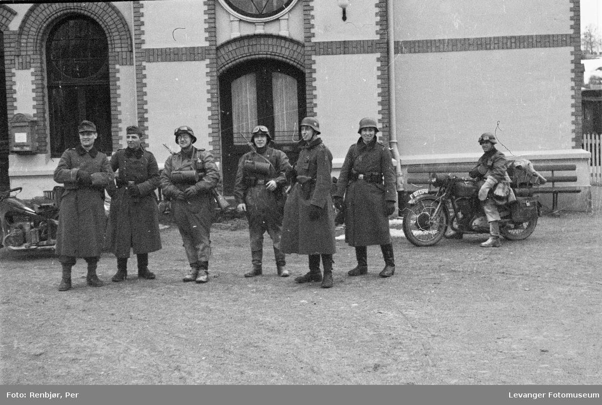 Tyske tropper i Levanger sentrum
