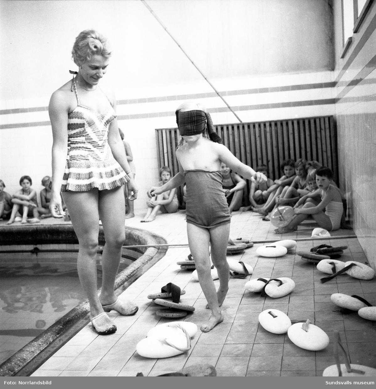 Simskoleavslutning i Sundsvalls gamla badhus.