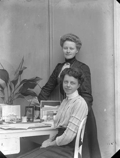 Fotograf  Ingeborg Enander och Helga Bäfverfeldt, självporträtt 1909