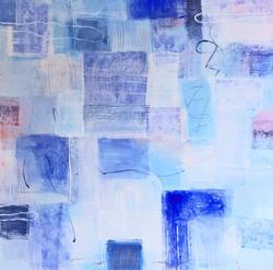 Blått kvadrat [Maleri]
