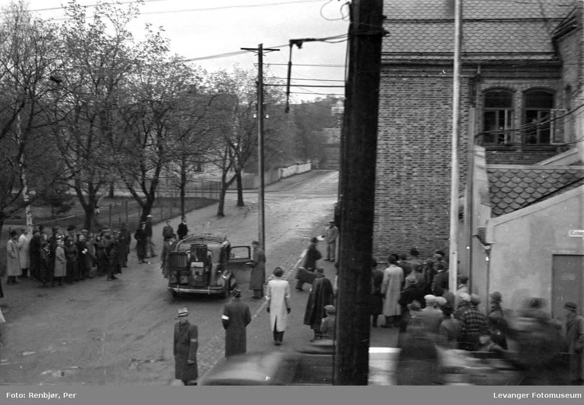 Arrestasjoner fredsvåren i 1945.