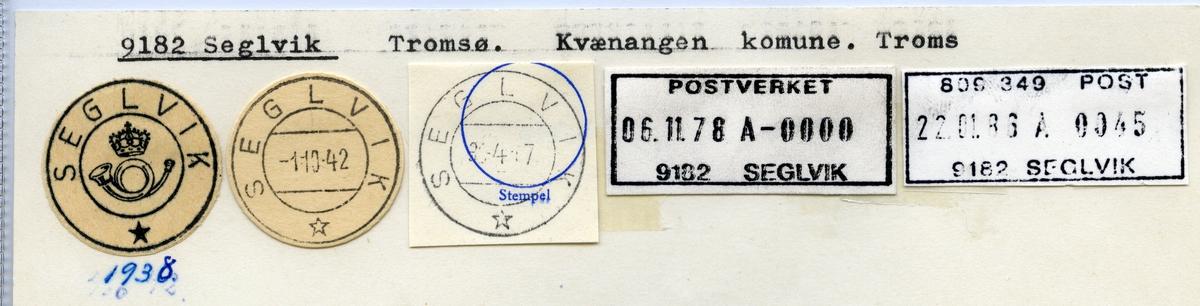 Stempelkatalog 9182 Seglvik, Kvænangen kommune, Troms