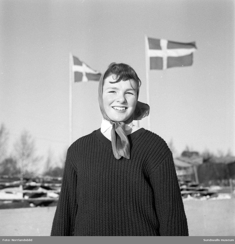 Konståknings-SM på Heffnersplanen i Skönsberg där hemmaåkaren Ulla Nedegård tog brons.