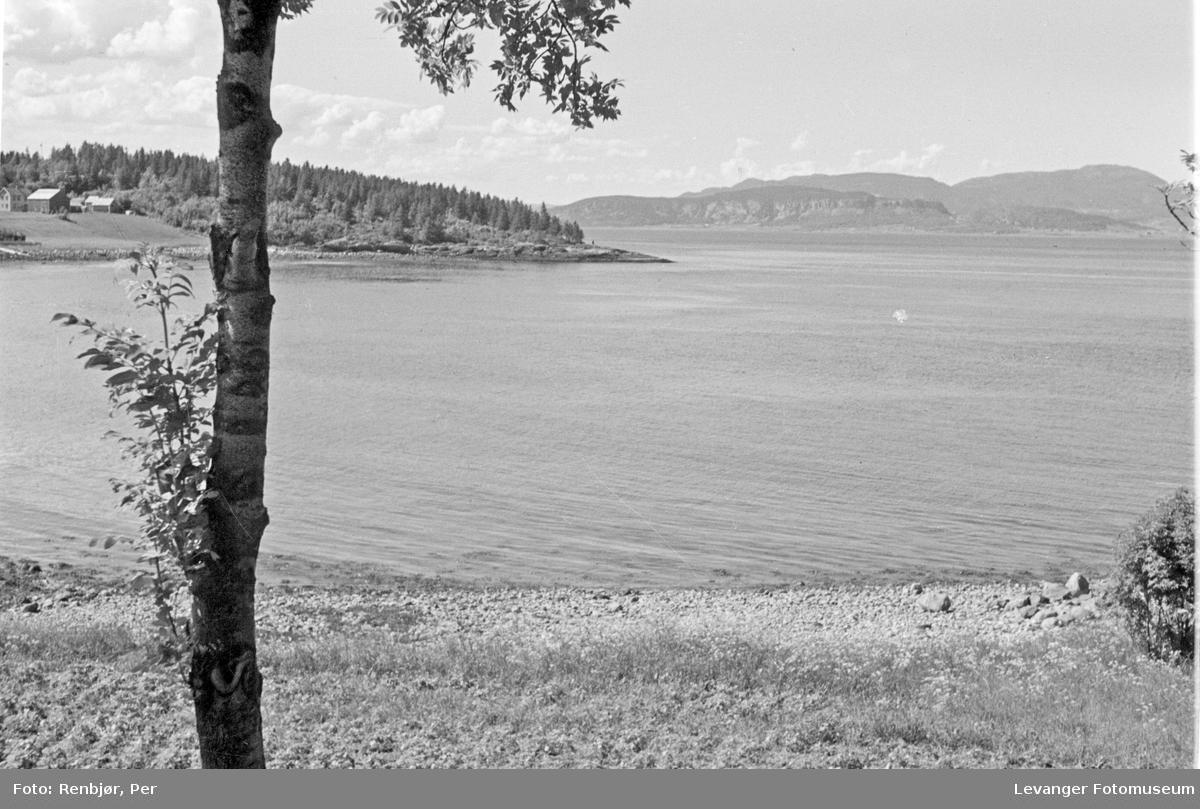 Landskap ved Trondheimsfjorden uten tyske krigsskip