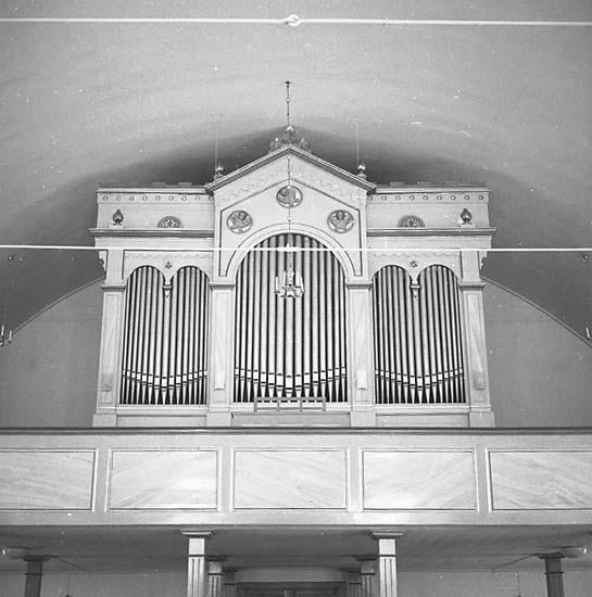 Stenkyrka socken. Stenkyrka kyrka. Orgel. Före restaurering.