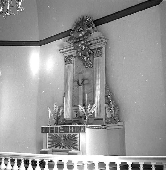 Stenkyrka socken. Stenkyrka kyrka. Altare. Efter restaurering.