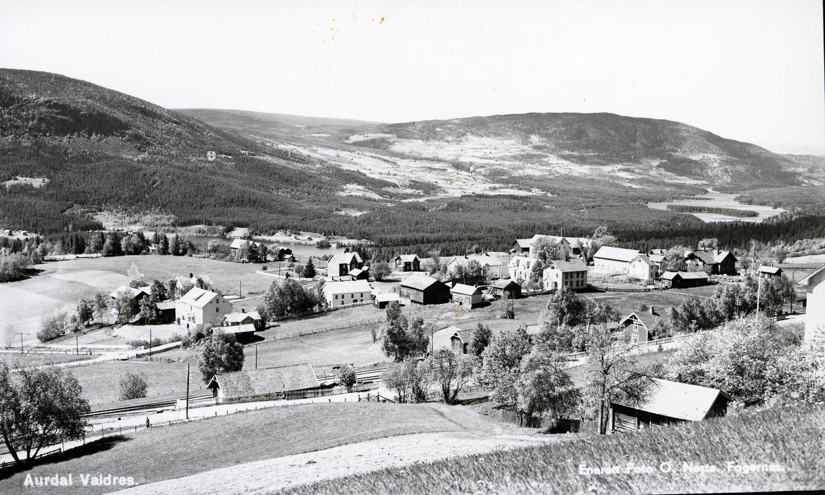 Oversiktsbilde over Aurdalsbyen