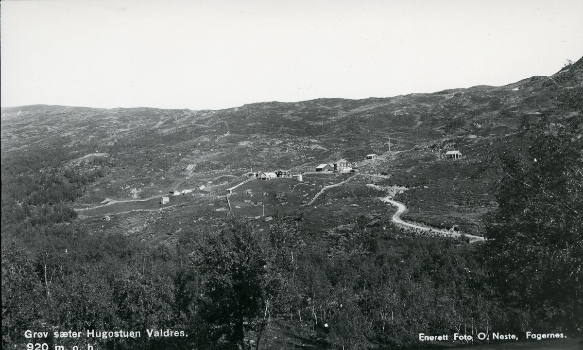 Utsikt mot Grøv seter i Vang