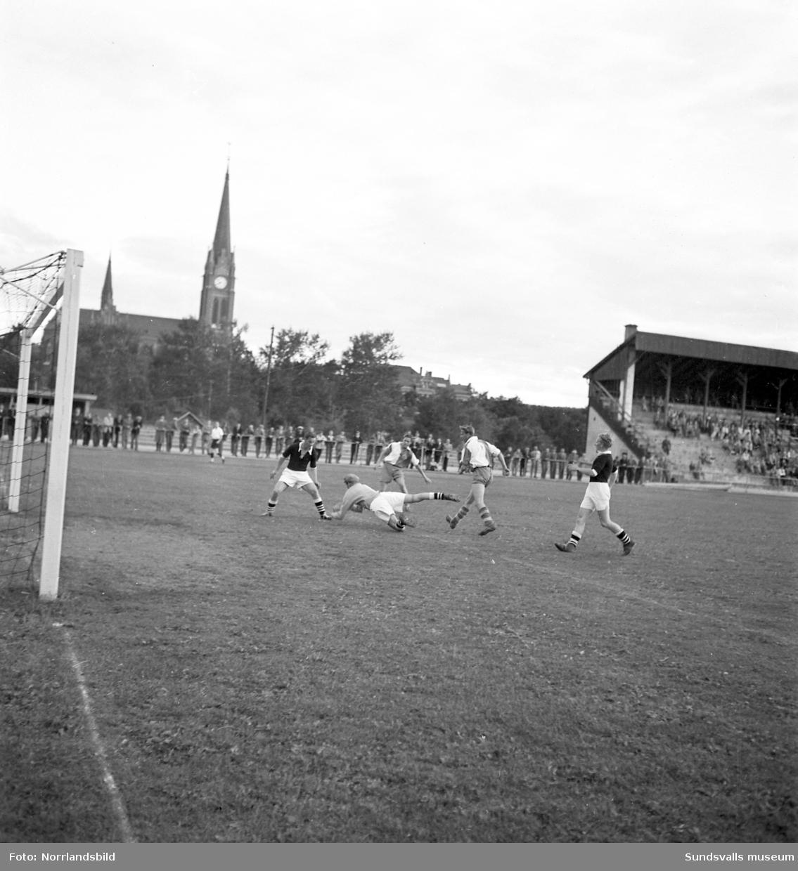 Fotboll i Idrottsparken mellan norska laget Nidar och GIF Sundsvall.