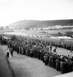 Tävlingar på Bergsåkerstravet 1949.