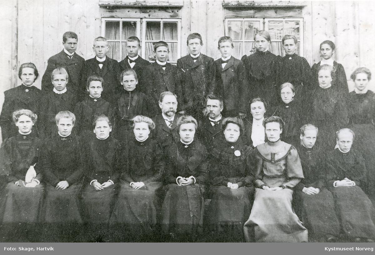 Konfirmantene i Foldereid året 1908