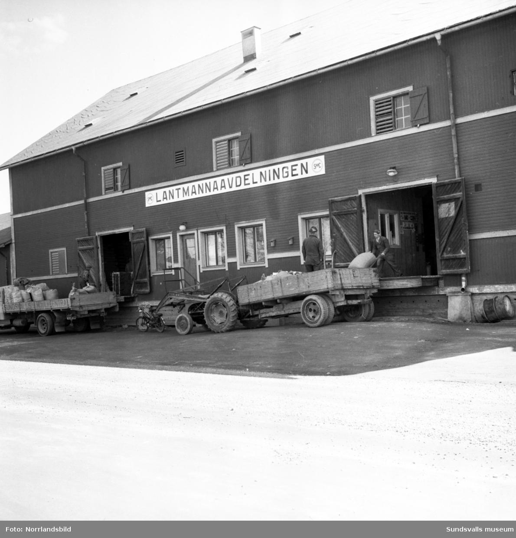 Exteriörbild av SMC Lantmännens lager vid Norra Järnvägsgatan på Västermalm.
