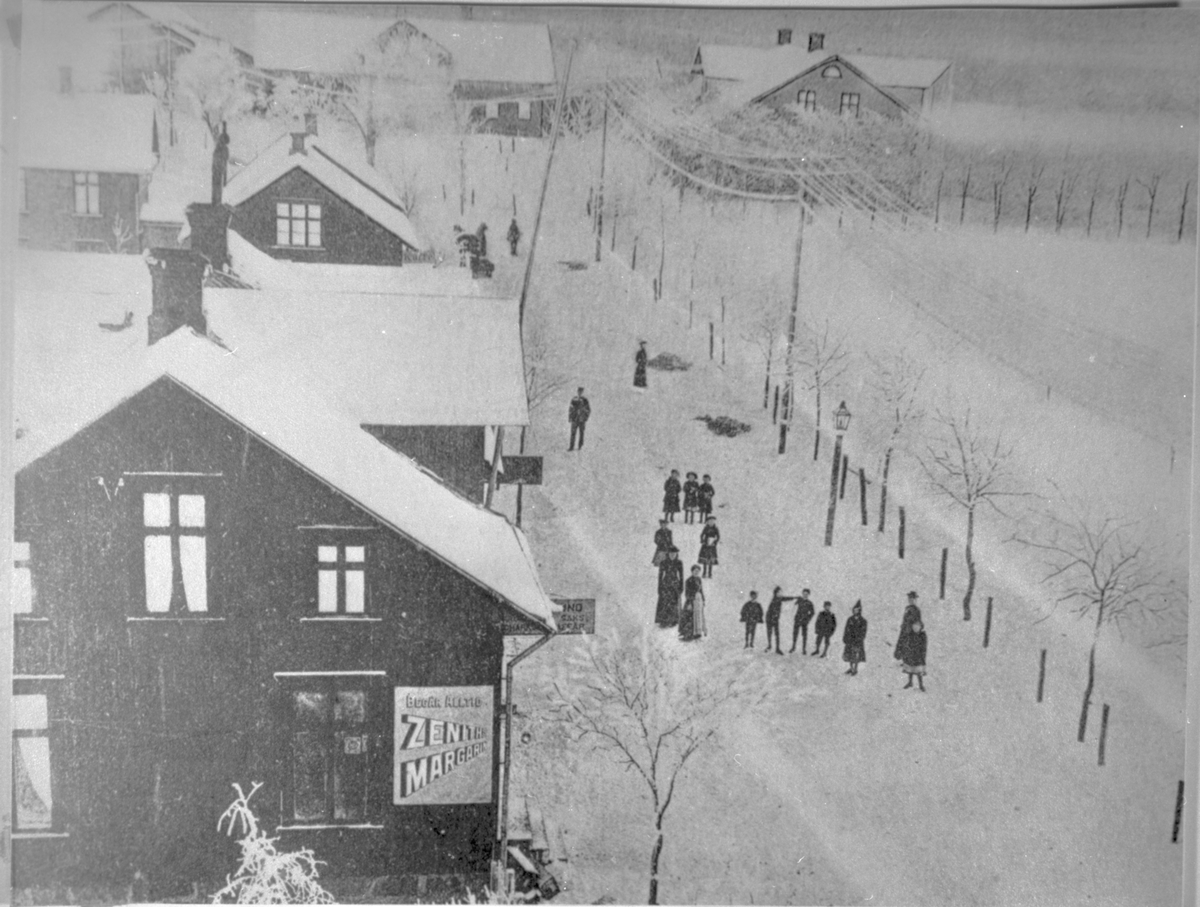Storgatan Mellerud med Österråda gård i bakgrunden