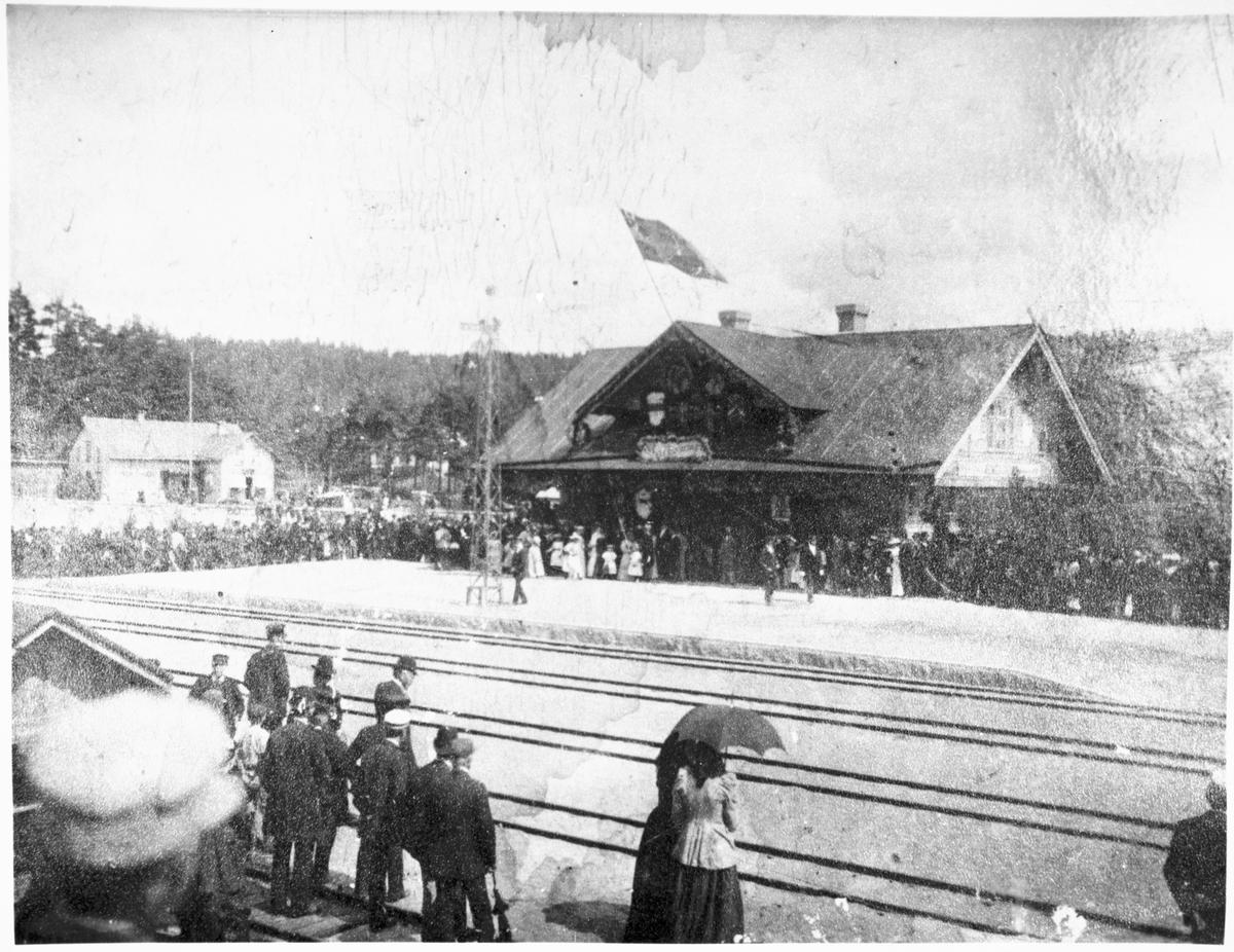 Uddevalla-Lelången järnväg inviger i Bengtsfors