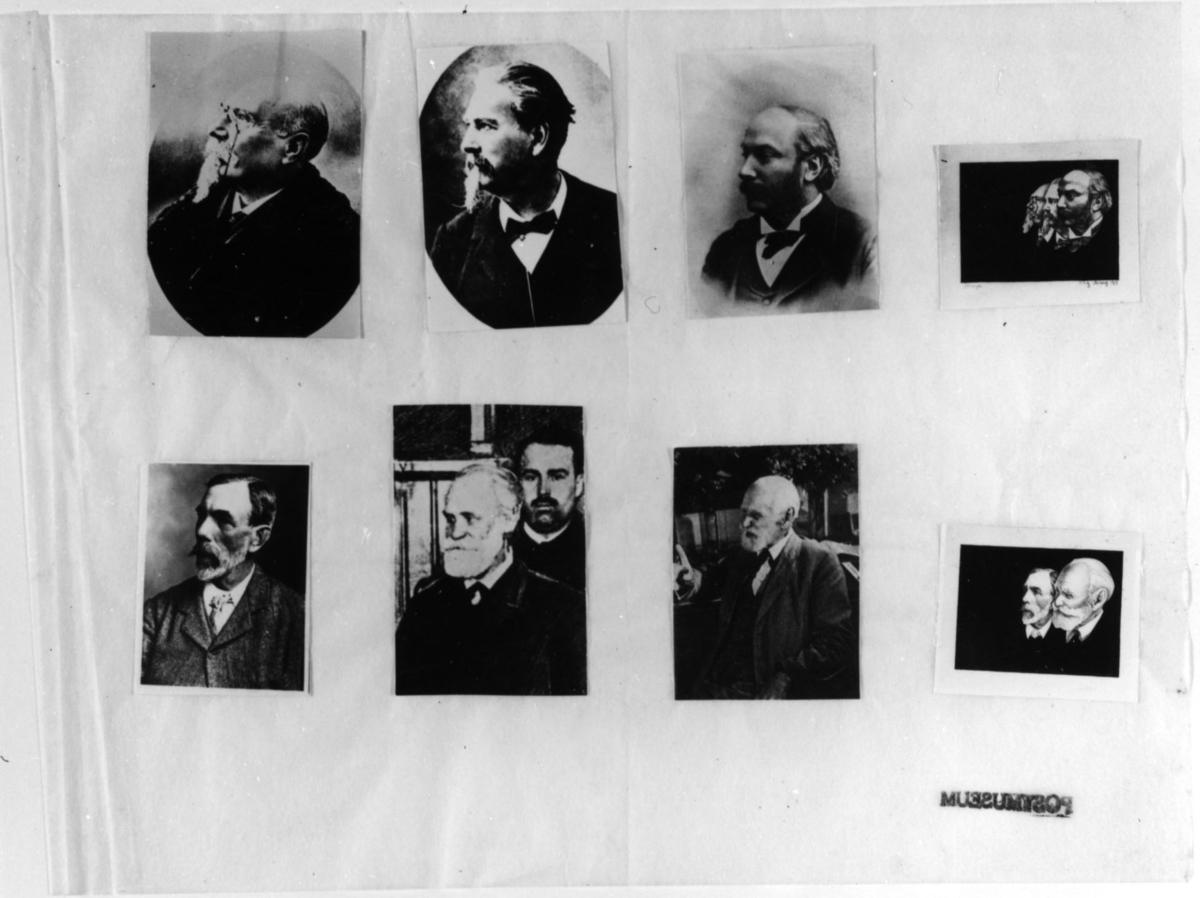 Frimärksförlaga till frimärket Nobelpristagare 1904, utgivet 10/12. Originalteckningar och skiss. Konstnär: Stig Åsberg (1909- ) och V Forsberg (I Postmuseums samlingar).