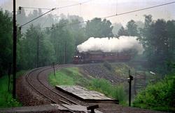 Veterantog med damplokomotiv 21b 252 i forbindelse med Jernb