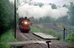 Veterantog Hamar - Brumunddal med damplokomotiv 21b 252 i fo